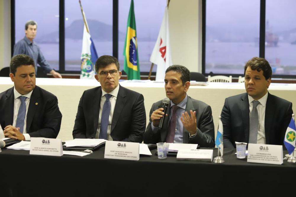 Novo presidente do INSS, Leonardo Rolim, participou do encontro / Foto: Eugênio Novaes