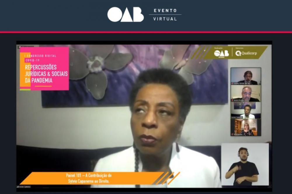 Ivone Caetano, desembargadora aposentada do TJRJ e diretora de Igualdade Racial da OABRJ