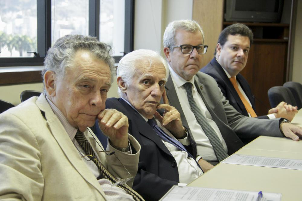 Humberto Jansen, Lousada Câmara, Ricardo Menezes e Alfredo Hilário / Foto: Bruno Marins