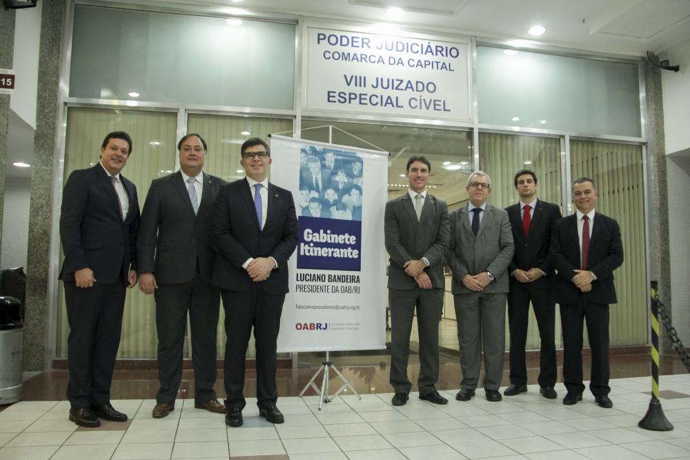 Comitiva da Seccional esteve nesta quarta no JEC da Tijuca / Foto: Bruno Marins