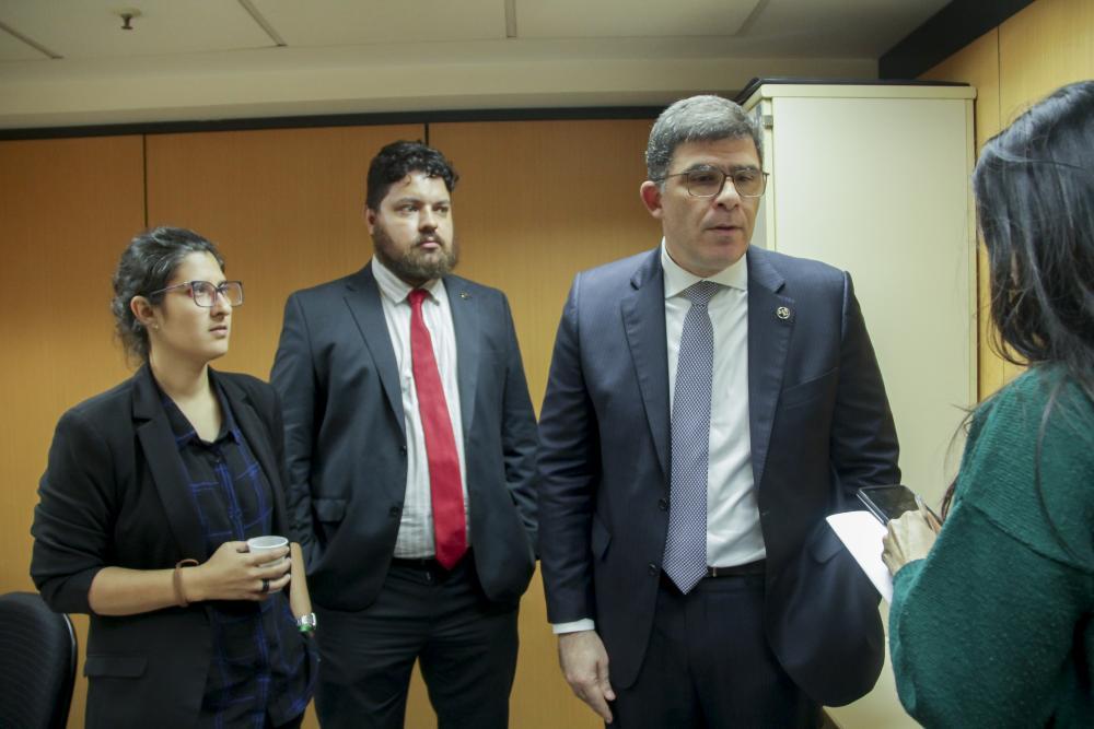 Mariana Rodrigues, Rodrigo Mondego e Luciano Bandeira / Foto: Bruno Marins