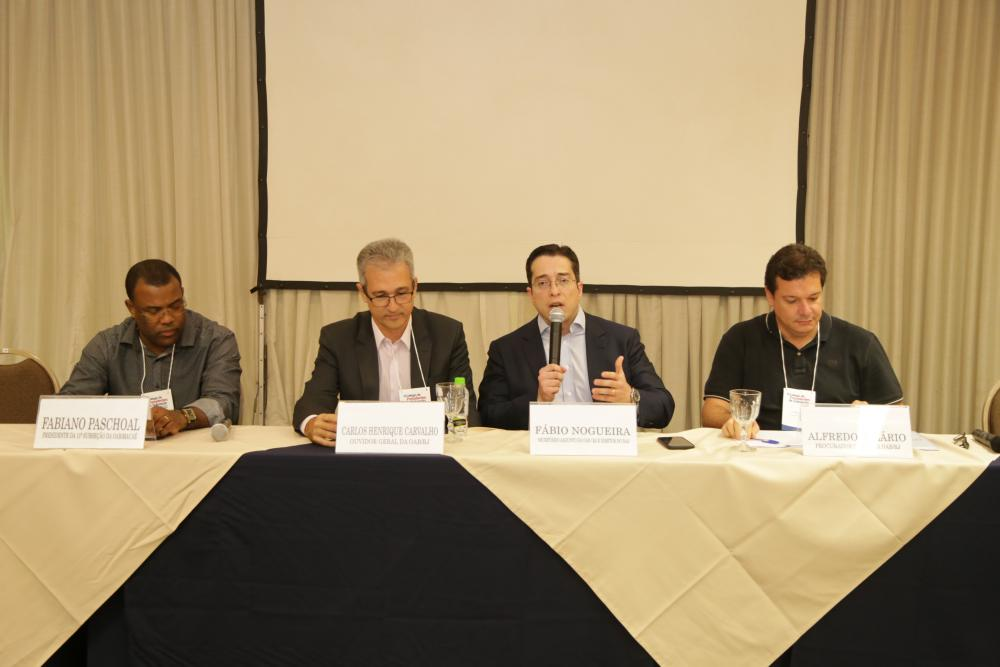 No painel apresentado por Fábio Nogueira, Procuradoria e Ouvidoria da OABRJ apresentaram seus projetos / Foto: Lula Aparício