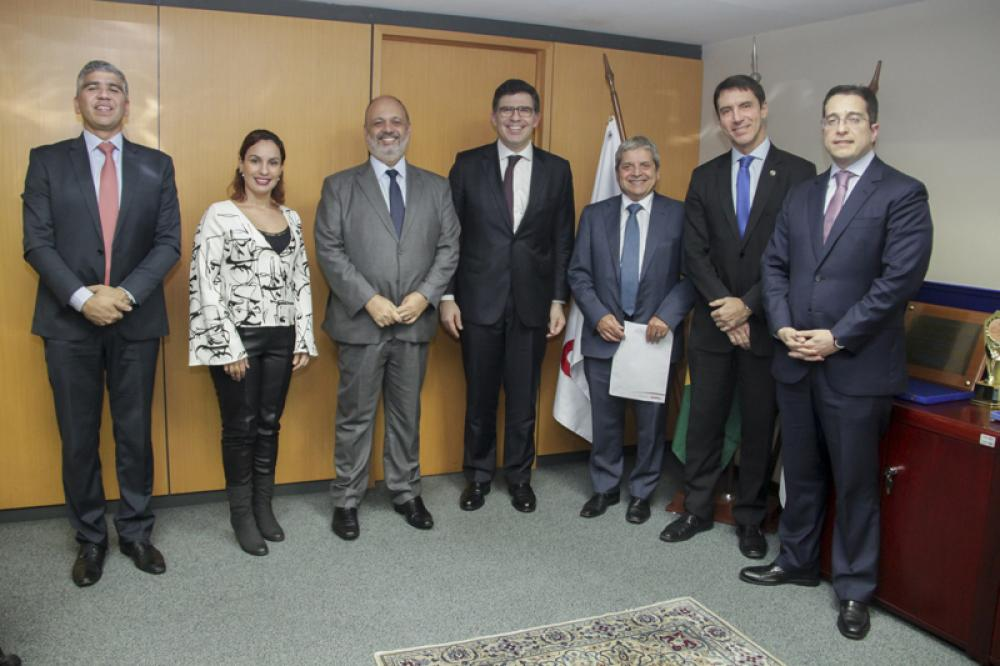 Diretoria da OAB/RJ com integrantes da Comissão de Celeridade Processual / Foto: Bruno Marins
