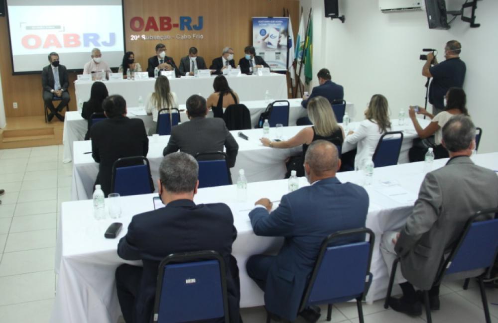 Reunião das diretorias da OABRJ  e da Caarj com os presidentes das subseções da Região dos Lagos / Foto: Bruno Marins