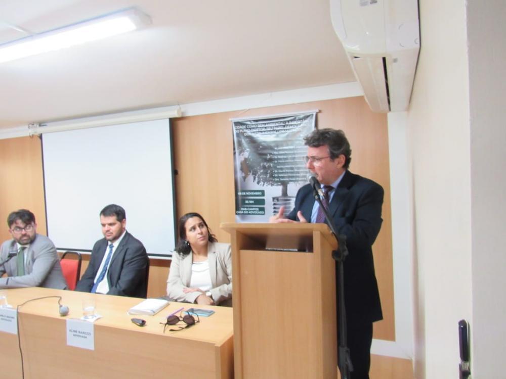 Flávio Ahmed no evento na OAB/Campos dos Goytacazes / Foto: Arquivo pessoal