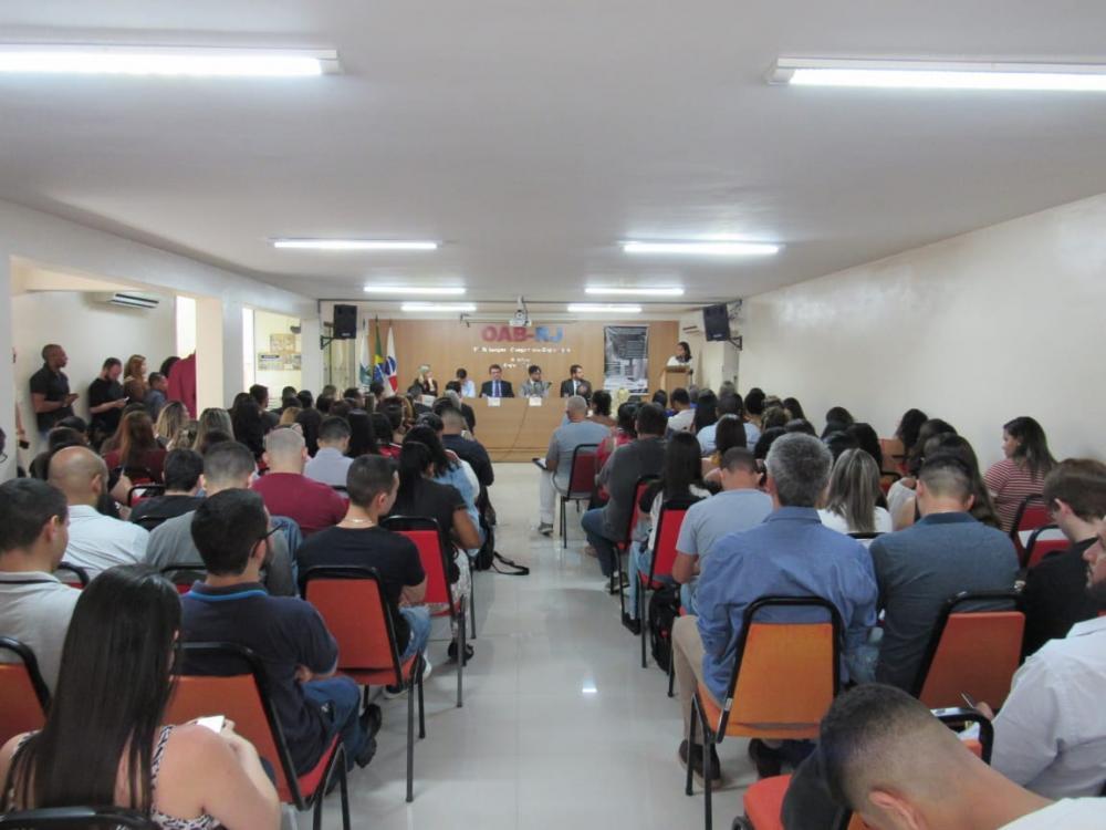 Evento lotou a subseção / Foto: Arquivo pessoal