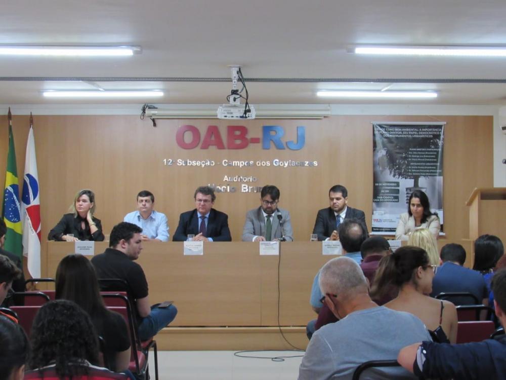 Primeiro encontro regional do Fórum Permanente de Presidentes de Comissão de Direito Ambiental das Subseções, em Campos  / Foto: Arquivo pessoal